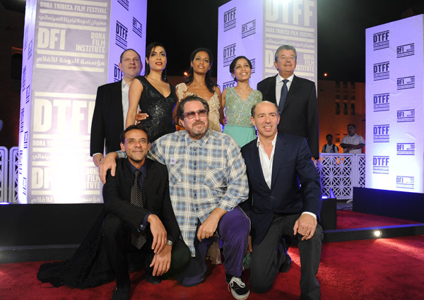 Alexander Siddig attends the Doha Tribeca Film Festival with the cast and producers of Miral